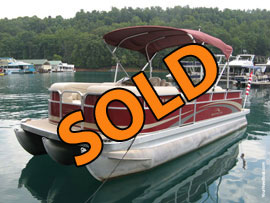 2010 Bennington 2250GCW Tritoon For Sale on Norris Lake TN