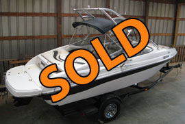 2010 Ebbtide 214SE Runabout Ski Boat For Sale with a Wakeboard Tower on Norris Lake