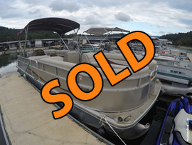 2011 Berkshire Limited 250CL Pontoon Boat with 90HP 4-Stroke Suzuki Outboard Motor For Sale on Norris Lake
