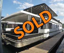 2012 Majestic 16 x 75WB 6-Bedroom Rental Fleet Houseboat For Sale on Norris Lake TN