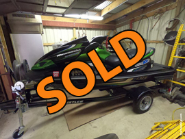 2013 Kawasaki Ultra 300X Supercharged Jet Ski and Trailer For Sale near Norris Lake TN
