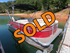 2018 Harris Cruiser 230 Rental Fleet Pontoon Boat For Sale on Norris Lake TN at Shanghai Resort Marina