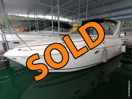 2001 Rinker Fiesta Vee 270 Cabin Cruiser For Sale on Norris Lake at Sequoyah Marina