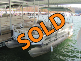 2001 Sun Tracker 21 Fishing Barge Pontoon Boat with 70HP Yamaha 4 Stroke Outboard Motor For Sale on Norris Lake Tennessee