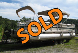 2002 Fisher 241 Freedom Deluxe I/O Pontoon Boat Motor Trailer Package For Sale near Norris Lake TN