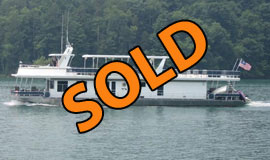 2003 Sharpe 19 x 90 w/Catwalks Diesel Powered Houseboat For Sale on Norris Lake