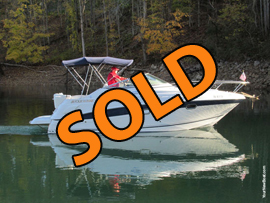2004 FourWinns 248 Vista Cabin Cruiser with Trailer For Sale on Norris Lake at Norris Dam Marina