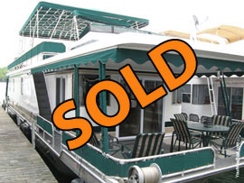 2004 Lakeview 16 x 67WB Houseboat For Sale on Norris Lake in East Tennessee