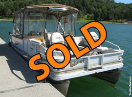 2005 Crest 22 Family DL Fish Pontoon with 90HP Honda 4-Stroke Outboard For Sale on Norris Lake TN