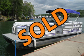 2005 LeisureKraft 22 Pontune with 115HP Suzuki Four Stroke Outboard Motor For Sale on Norris Lake TN