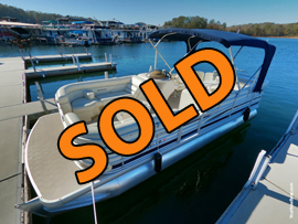 2005 SanPan 2200RE Triple Pontoon Tritoon with 150HP Yamaha Outboard Motor and Trailer For Sale on Norris Lake Tennessee at Sequoyah Marina
