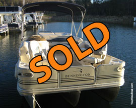2006 Bennington 2075GS Tritoon w/115HP 4-Stroke Outboard Motor For Sale on Norris Lake Tennessee
