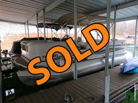 2007 Crestliner 2085 LSi Pontoon Boat with 115HP Mercury EFI Four Stroke Outboard Motor For Sale on Norris Lake Tennessee