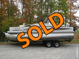 2007 Crestliner 2285 CFi Fish Pontoon with 90HP Mercury 4-Stroke Outboard Motor and Tandem Axle Trailer For Sale near Norris Lake Tennessee