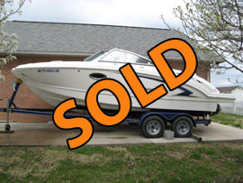 2008 Chaparral 224 Sunesta Open Bow Deckboat Bowrider Runabout For Sale in East Tennessee near LaFollette TN