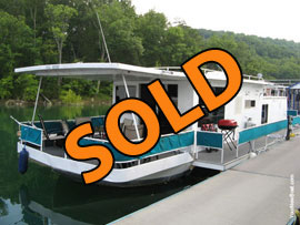 1973 Jamestowner 18 x 50 (Steel Hull) Houseboat For Sale on Norris Lake