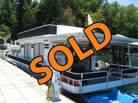 1974 Sumerset 14 x 50 (Steel) Houseboat For Sale on Norris Lake TN