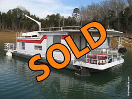 1975 Captains Craft 11 x 42 (Steel) Houseboat For Sale on Norris Lake