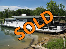 1976 Sumerset 12 x 52 (Steel) Houseboat For Sale on Norris Lake