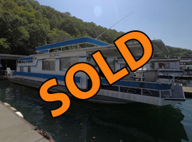1977 Sumerset 14 x 58 Aluminum Hull Project Fixer Upper Houseboat For Sale on Norris Lake TN at Stardust Marina