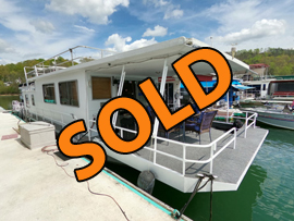 1978 Sumerset 14 x 58 Steel Hull Houseboat For Sale on Norris Lake Tennessee at Hickory Star Marina
