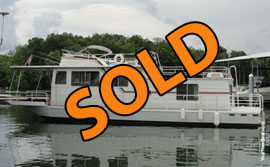 1983 Hilburn 14 x 50 Aluminum Hull Houseboat For Sale near Chattanooga TN on the TN River