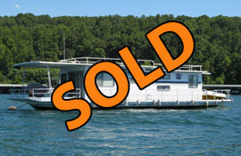 1983 Jamestowner 14 x 56 (Steel Hull) Houseboat For Sale on Norris Lake at Sequoyah Marina
