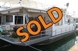 1983 Sumerset 14 x 50 Aluminum Hull 1 Bedroom Houseboat For Sale on Norris Lake Tennessee