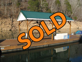 12 x 40 Dock with 12 x 20 Covered Patio on New Style Flotation For Sale on Norris Lake at Whitman Hollow Marina
