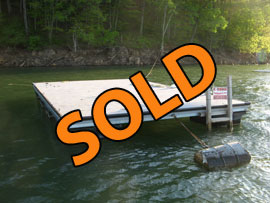 16 x 24 Floating Dock Float For Sale on Norris Lake with Composite Decking, Galvanized Frame and Lifetime Floatation
