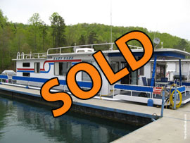 1985 Jamestowner 14 x 58 with Catwalks Steel Hull Houseboat For Sale in Tennessee on Norris Lake