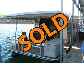 1985 Landau 12 x 40 Aluminum Pontoon Houseboat For Sale on Norris Lake TN