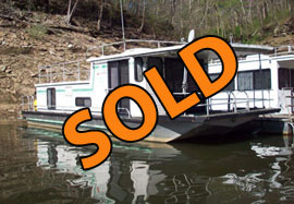 1987 CarolinaKentucky 12 x 44 Aluminum Hull Houseboat For Sale on Lake Cumberland KY