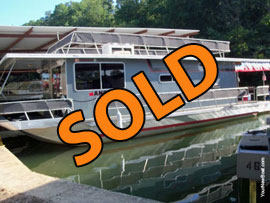 1987 Hilburn 14 x 41 Aluminum Hull Houseboat For Sale near Tuscaloosa AL
