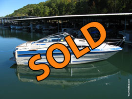 1987 Sea Ray 230 Weekender Cuddy Cabin Cruiser For Sale on Norris Lake Tennessee at Beach Island Marina
