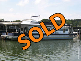 1987 Sumerset 14 x 60 Aluminum Hull Houseboat For Sale on the Lake Loudon Section of the Tennessee River