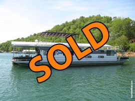 1987 Sumerset 16 x 70 Aluminum Hull Houseboat For Sale on Norris Lake Tennessee