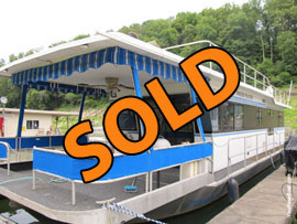 1988 Jamestowner 14 x 58 Aluminum Hull Houseboat For Sale on Lake Cumberland