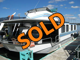 1990 Seabreeze 14 x 54WB Repo Houseboat For Sale on Norris Lake TN