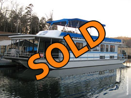 1990-2010 Stardust 16 x 62 Aluminum Hull Houseboat For Sale on Norris Lake in TN
