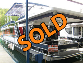 1990 Sumerset 16 x 70 Aluminum Hull Houseboat with Catwalks and 3 Bedrooms For Sale on Norris Lake TN