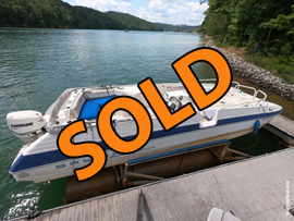 1994 Bayliner Rendezvous Bay Cat Catamaran Deckboat For Sale on Norris Lake Tennessee near Deerfield Resort