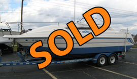 1994 Thompson SantaCruz 2600 Cabin Cruiser with Trailer For Sale near Norris Lake TN