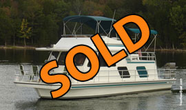 1995 Gibson 14 x 41 Fiberglass Houseboat For Sale on Percy Priest Lake in Middle Tennessee near Nashville TN