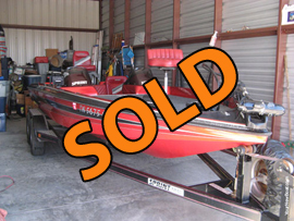 1996 Sprint 207 Dual Console Pro Tournament Fishing Boat For Sale near Norris Lake Tennessee with 150HP Mercury Outboard Motor and Trailer