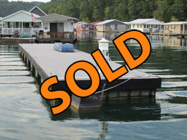 10 x 64 Dock with Composite Decking and Shore Power Cable For Sale at Springs Dock Resort on Norris Lake TN