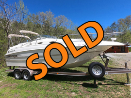 Freshwater 1999 Larson Cabrio 254 Trailerable Cabin Cruiser For Sale near Norris Lake Tennessee at Deerfield Resort
