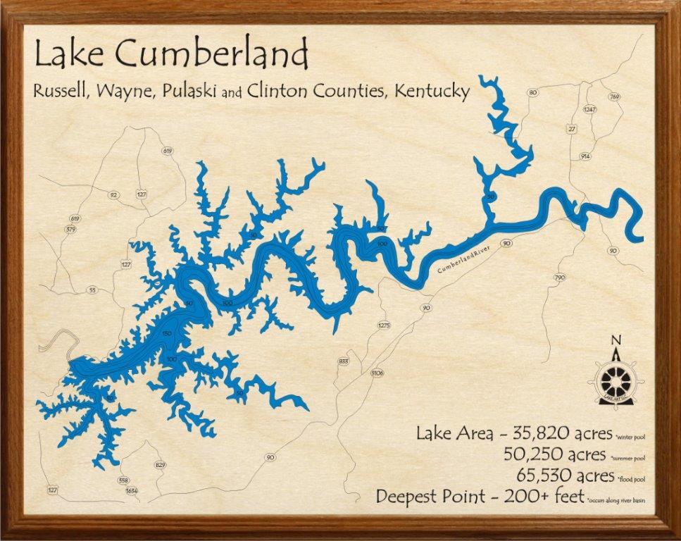 Map Of Lake Cumberland LakeCumberlandBoaters.• View topic   Lake cumberland map Map Of Lake Cumberland