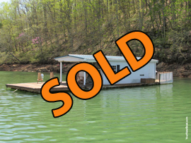 12 x 24.5 Floating Cabin (Approx 280sqft) For Sale on Norris Lake TN at Sequoyah Marina