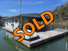 13 x 27 Floating Cabin Approx 350sqft For Sale on Norris Lake at Shanghai Resort Marina